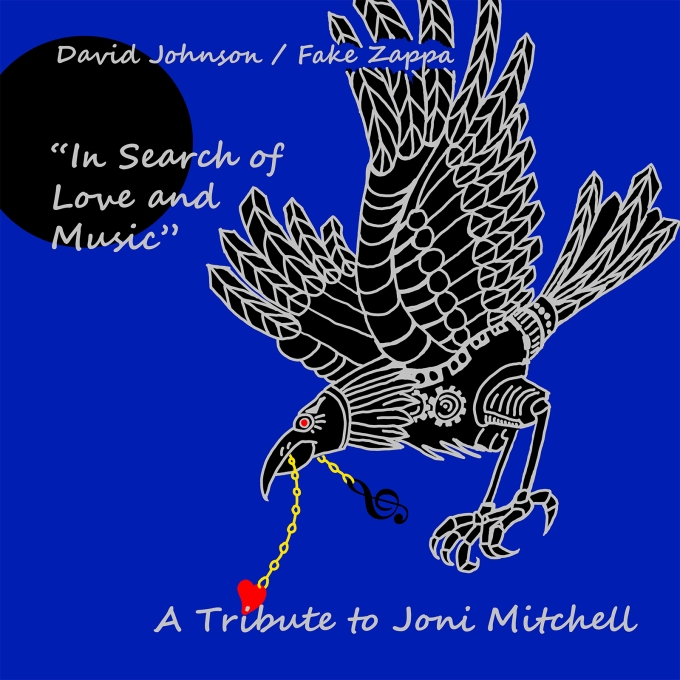 david johnson - in search of love and music - black crow album cover 1600x1600